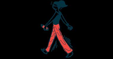 Sjogren's Foundation | Sjogren's Syndrome News | Illustration of woman walking