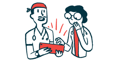 campaign | Sjogren's Syndrome News | Illustration of two healthcare professionals with tablet